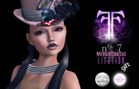 no. 7 Moustache FF RFL Lipstick